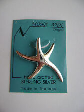 Sterling Silver Large Starfish Pendant New