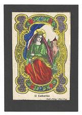 Hl. Katharina – Altkolorierte Lithographie – Prag, Hoppe, um 1860-70