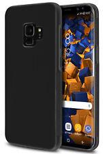 mumbi Hülle für Samsung Galaxy S9 Schutzhülle Tasche Silikon Case Cover Schwarz