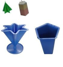 Set x 2, Pentagon 5 Sided Pillar Candle Mould & 6 Point Star Mould Uk Made S7612