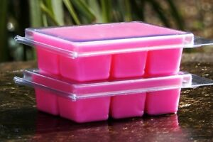 6pk 100hr PINK GRAPEFRUIT Essential Oil Pure Soy Wax CLAM MELTS for OIL BURNERS