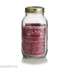 Vintage Kilner Preserving Glass Storage Jars with Screw Top Lid - Pickle Jam Jar