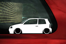 2x LOW Seat Arosa 6h2 / Mk2 (facelift) car  outline silhouette stickers / Decals