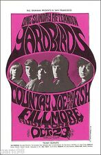 YARDBIRDS Jimmy Page Country Joe The Fish  BG Fillmore Concert Handbill PC 1966
