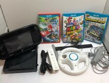 Nintendo Wii U Console System Bundle + Remote Super Mario 3D World MARIO Kart 8