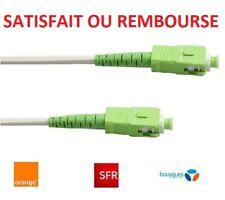 Cordon / câble fibre optique abonné pour box ORANGE, SFR, BOUYGUES, SOSH...