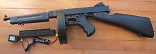 Airsoft Auto Electric Rifle Thompson M1A1 Tommy Gun w/2 Magazine 340 FPS Black