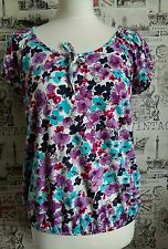 M&Co Multicoloured Floral Print Top /Blouse size 10 UK summer/holiday offers