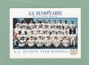 IMPEL 1992 USA OLYMPIC BASEBALL TEAM CARD