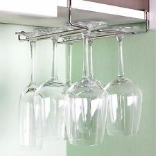 Hanging Wine Glass Rack Drinking Glasses Storage Holder Mounted on the shelf