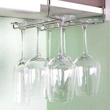 Hanging Wine Glass Rack Drinking Glasses Storage Holder Mounted on the shelf