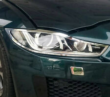 FAST EMS Pair ROYAL Chrome Front Light Headlight Trims for Jaguar XE X760 15-ON