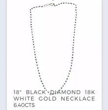 Black Diamond 18k White Gold Necklace
