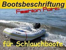 Bootsbeschriftung, Bootsaufkleber, Kennzeichen auch für Schlauchboote