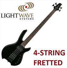 $1800 New Willcox LightWave Saber SL 4-string Fretted Bass Guitar (Ultrablack)