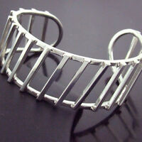 237 GENUINE HALLMARKED REAL 925 STERLING SILVER SOLID CUFF BANGLE BRACELET