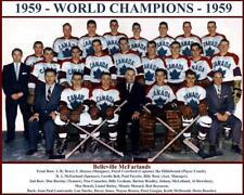 1959 BELLEVILLE McFARLANDS WORLD CHAMPIONS TEAM PHOTO 8X10