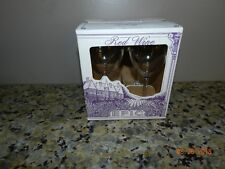 Acrylic Red Wine Clear Glasses lot of 4 pcs new in box