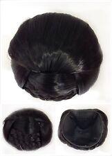 Hair Bun, Perfect Braided, Hair Piece, Dark Dark Brown.