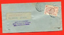 REPUBBLICA - cover ONU ISOLATO - 1957 DA CAMERINO (336-a94)