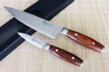 KATSURA Japanese VG-10 3 Layer Forged Steel 8in Chef knife Set vs Ran Shun, 2pcs