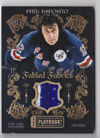 13-14 Panini Prime Phil Esposito /10 Jersey PRIME Fabled Fabrics NY Rangers 2013