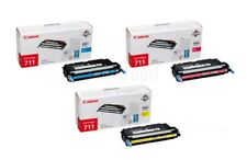 Canon 711 Cyan Magenta Yellow Genuine Original Toner Cartridge Set .