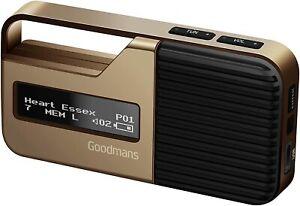 Goodmans Sport Portable Pocket Personal Handheld DAB+ FM Digital Radio - Gold