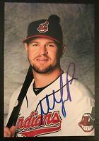 MATT LAPORTA MLB Cleveland Indians Autographed Signed 4x6 Photo 1