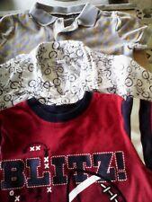 Boys Tops Size 4T - Gray w/ Airplanes, White Shirt w/ Bikes, Red w/Football