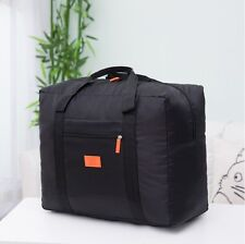 Foldable Travel Cabin Luggage Bag [Black]