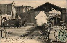 CPA TOULON Train cote d'azur Cie-P.L.M. Trajet de Paris a Nice (338617)