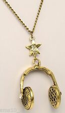 "Bronze Colour ""Headphones""  Necklace CJN426"