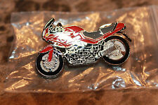BMW Motorcycle Hat Jacket Lapel Pin K 1100 S BMW Red cycle pin metal/enamel