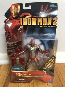 Hasbro 6 Inch Figure Iron Man 2 Mark 5 Walmart Exclusive Transport Case RareFind