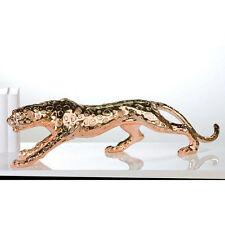 Escultura Figura Leopardo Salvaje COBRE 80cm diseño Accesorio