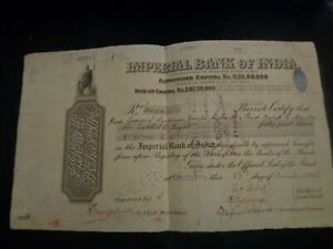 IMPERIAL BANK OF INDIA 4000 RUPEES 1926