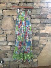 VTG 60s 70s Hippie Festival Patchwork Fabric Dress Maxi Skirt Boho Gem XS XXS