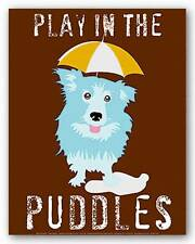 ART PRINT Play In The Puddles Ginger Oliphant