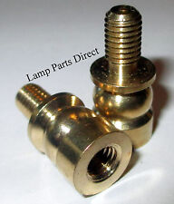 """(Lot of 2) 1/2"""" Shade Raiser 1/4-27F x 1/4-27M (Solid Brass - Unfinished)"""