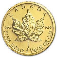 2009 1/10 oz Gold Canadian Maple Leaf Coin - SKU #46350