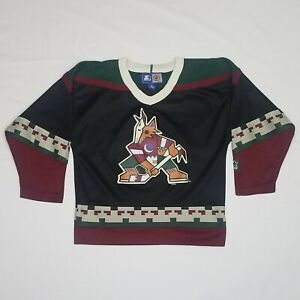 Vintage 90s Phoenix Coyotes STARTER NHL Hockey Jersey - Youth Large - Made Korea