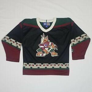 Vintage 90s Phoenix Coyotes STARTER NHL Hockey Jersey - Youth Large - Made Korea