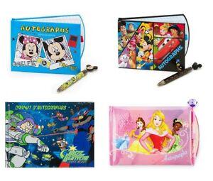 Disney Autograph Book with Pen Set Disneyland Buzz Princess Mickey Minnie Mouse