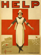WW1 RED CROSS NURSE  NEW A4 PRINT