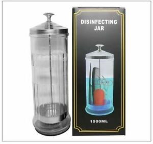 Disinfectant Glass Jar Sterilizer Hair Salons Barber Shops Barbicide Style Large