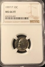 1997 P ROOSEVELT DIME NGC MS 66 FT