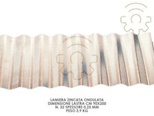Lamiera zincata ondulata 90 x 200 cm spessore 0,25 mm made in Italy
