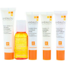 ANDALOU BRIGHTENING 5 PIECE SKINCARE KIT, VEGAN,NO ANIMAL TESTING,NATURAL INGRED