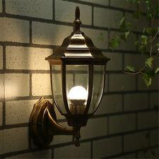 Outdoor Wall Light Exterior Fixture Bronze Lantern Glass Porch Lamp NEW